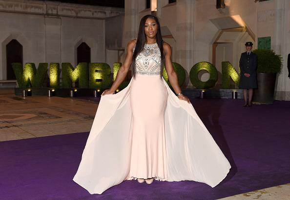 <p>The mega dress sure did make an impact at the Wimbledon Champions Dinner back in 2015. <i>[Photo:Karwai Tang/WireImage]</i></p>