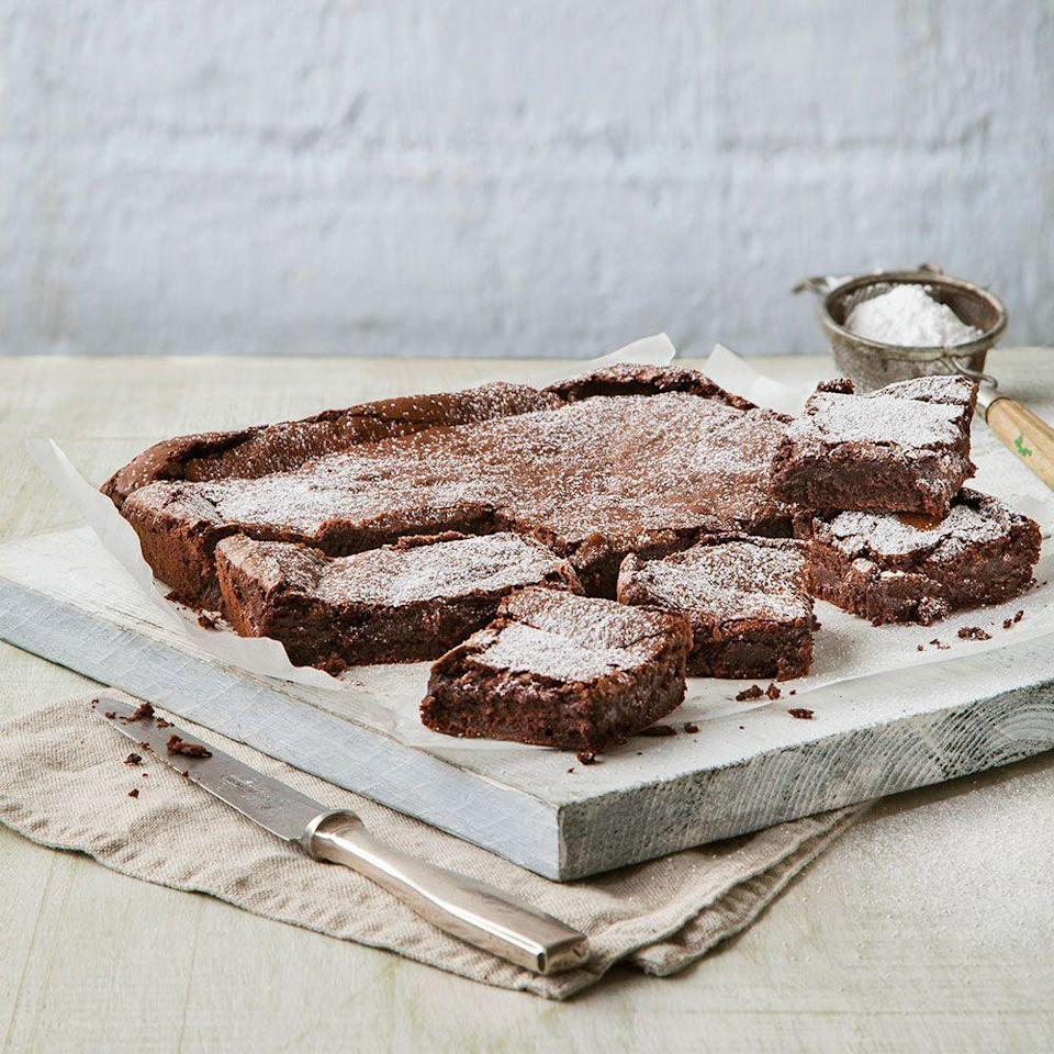 """<p>Looking for the perfect brownie recipe - glossy on top, and dense and fudgy in the centre? Look no further that this classic bake.</p><p><strong>Recipe: <a href=""""https://www.goodhousekeeping.com/uk/food/recipes/a537592/ultimate-brownies/"""" rel=""""nofollow noopener"""" target=""""_blank"""" data-ylk=""""slk:Ultimate Chocolate Brownies"""" class=""""link rapid-noclick-resp"""">Ultimate Chocolate Brownies</a></strong></p>"""