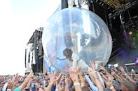 LOUISVILLE, KENTUCKY - SEPTEMBER 20: Wayne Coyne of the band The Flaming Lips performs during the 2019 Bourbon & Beyond Music Festival at Highland Ground on September 20, 2019 in Louisville, Kentucky. (Photo by Stephen J. Cohen/Getty Images)