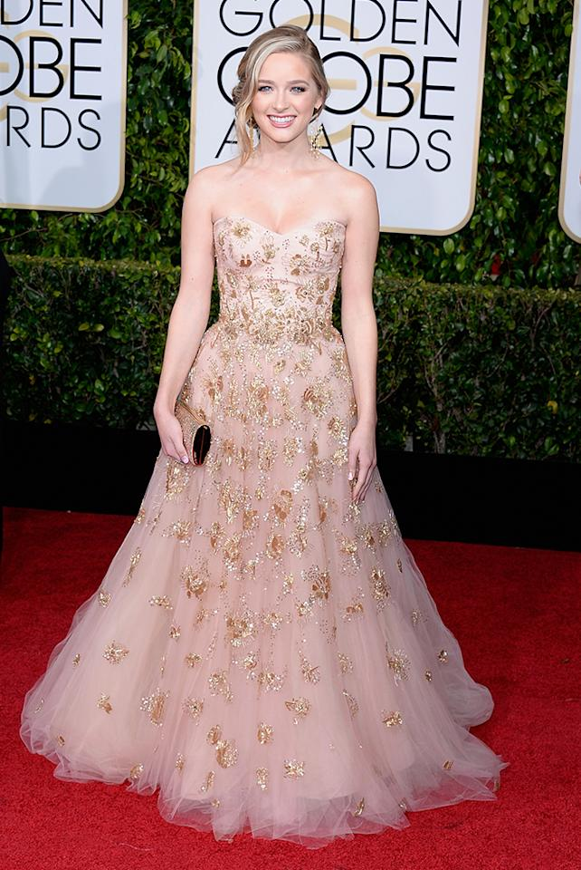 <p>Kelsey Grammer's daughter was named Miss Golden Globe after being cast on MTV's 'Awkward.' She currently appears in a recurring role on ABC sitcom 'The Middle.' (Photo by Kevork Djansezian/NBC/Getty Images) </p>