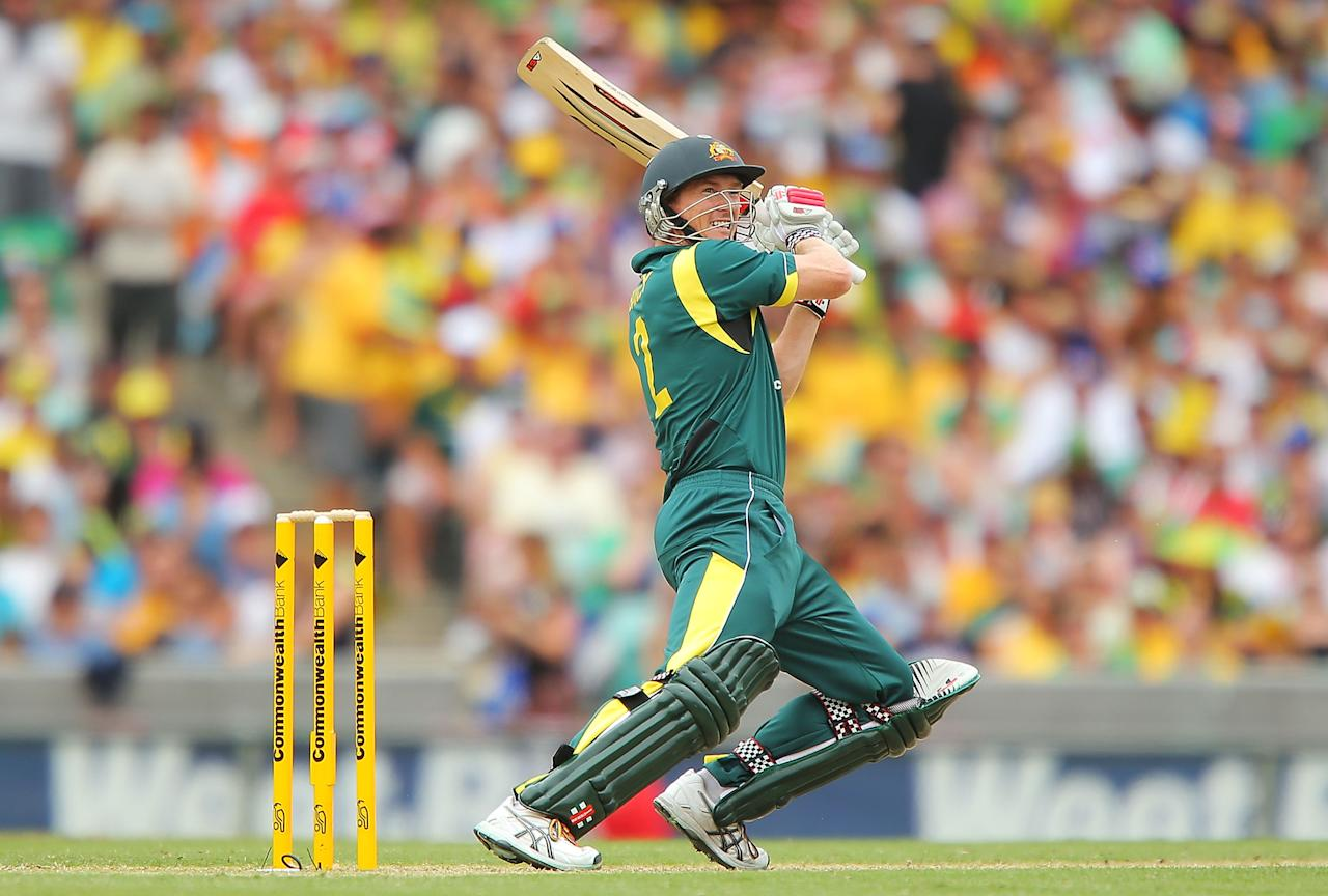 SYDNEY, AUSTRALIA - JANUARY 20:  George Bailey of Australia bats during game four of the Commonwealth Bank one day international series between Australia and Sri Lanka at Sydney Cricket Ground on January 20, 2013 in Sydney, Australia.  (Photo by Brendon Thorne/Getty Images)