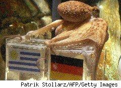 Paul, the psychic octopus, picked Germany over Uruguay
