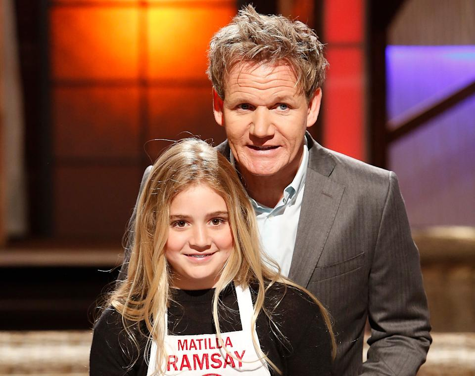 Gordon Ramsay with daughter Tilly who is competing in 'Strictly' this year. (FOX/Getty Images)