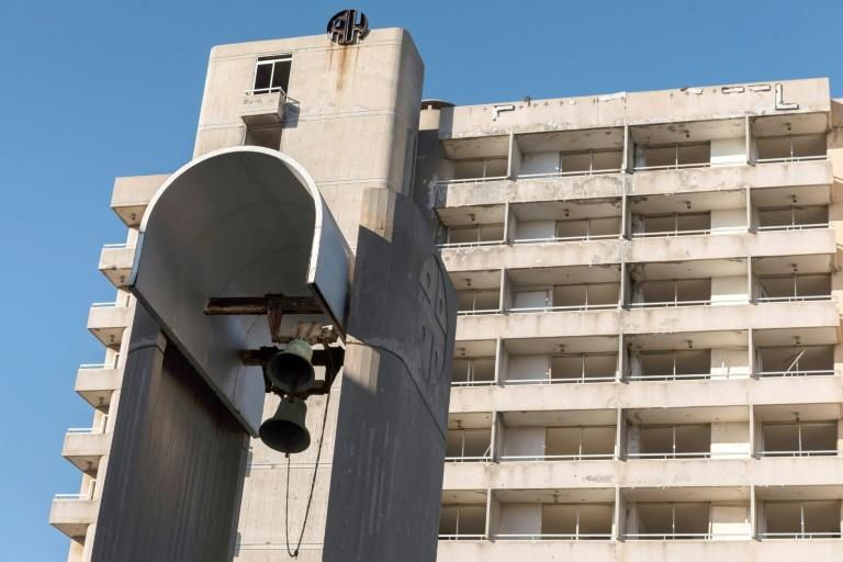 A dilapidated hotel in Varosha, a ghost town that Turkish Cypriots plan to reopen
