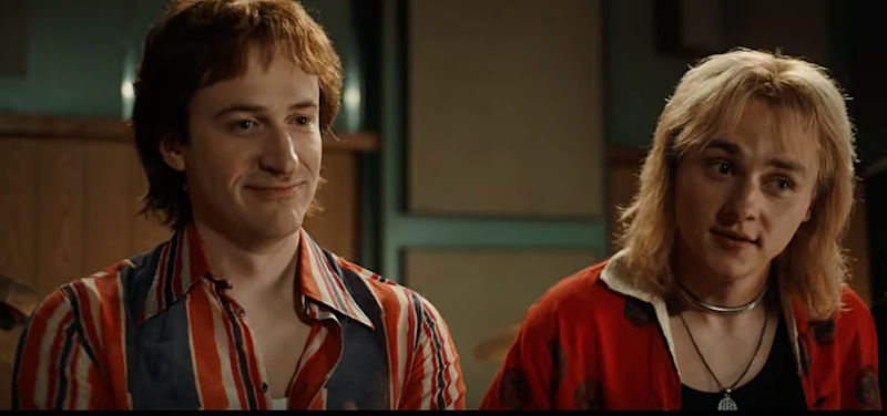 "Joe Mazzello e Ben Hardy in ""Bohemian Rhapsody"" (20th Century Fox)."