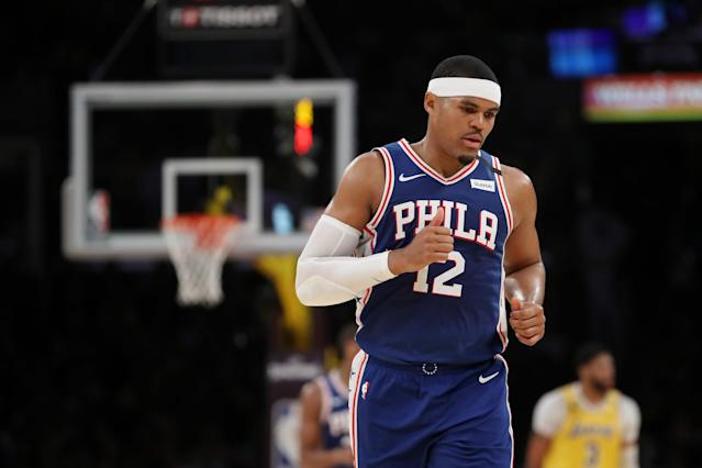 Tobias Harris is in his second season with the 76ers. (Photo by Katelyn Mulcahy/Getty Images)