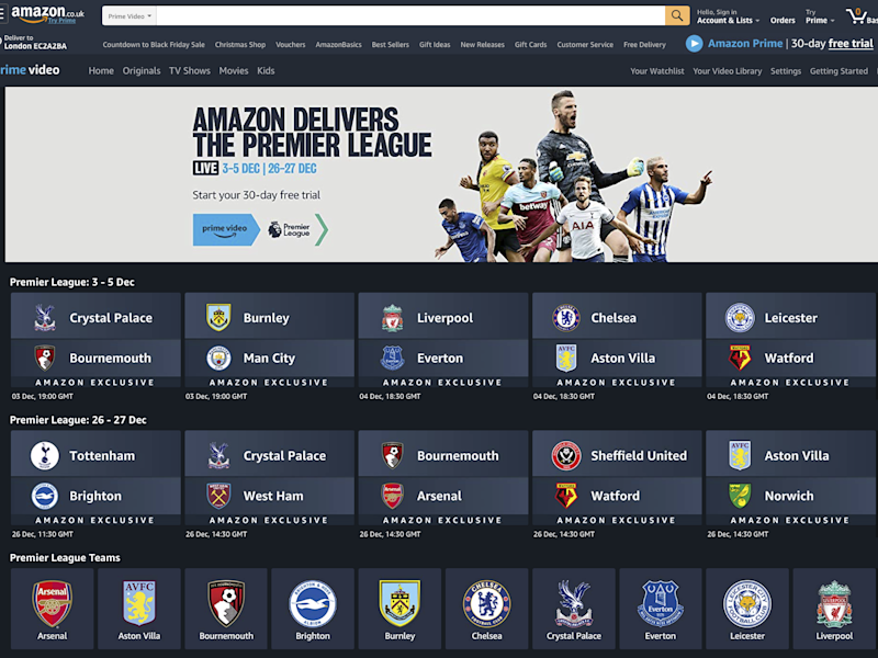 Amazon Prime has joined the battle for Premier League rights