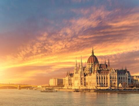 The tour boat suffered a collision in Budapest by the Parliament Building - Credit: getty