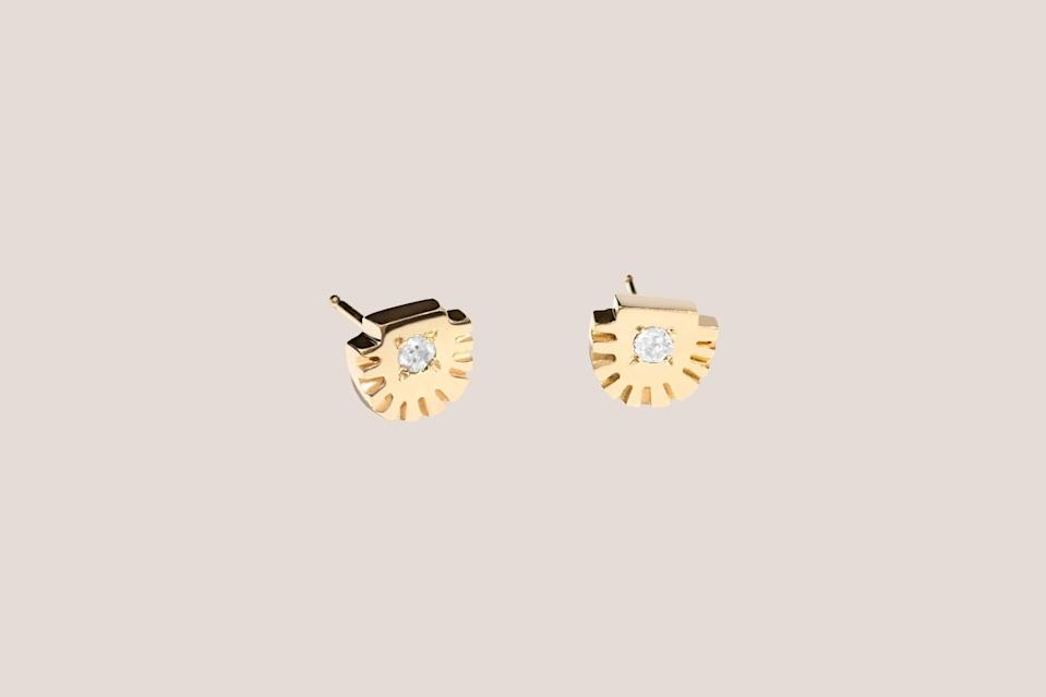 """<p>These diamond studs are made using recycled diamonds and metal, which mean they are <a href=""""https://www.marthastewart.com/2133042/most-eco-friendly-fashion-brands"""" rel=""""nofollow noopener"""" target=""""_blank"""" data-ylk=""""slk:completely conflict free"""" class=""""link rapid-noclick-resp"""">completely conflict free</a>. Bario Neal sources material in a way that reflects both the company's commitment to social justice <em>and</em> environmental sustainability. Purchase these diamond stud earrings for a loved one, and you are investing in someone else's loved one, too—proceeds help communities that are affected by the mining and manufacturing of precious stones and metals.</p> <p><strong><em>Shop Now: </em></strong><em>Bario Neal Ray Fringe Diamond Studs, from $325, </em><a href=""""https://bario-neal.com/jewelry/earrings/ray-diamond-studs"""" rel=""""nofollow noopener"""" target=""""_blank"""" data-ylk=""""slk:bario-neal.com"""" class=""""link rapid-noclick-resp""""><em>bario-neal.com</em></a><em>.</em></p>"""