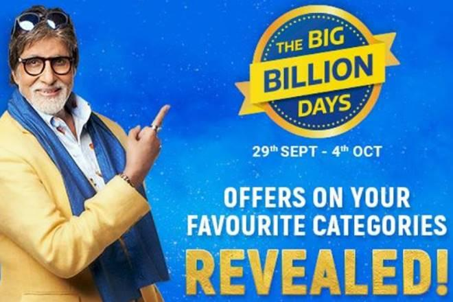 Flipkart, Flipkart Big Billion Days, Flipkart's Big Billion Days offers revealed, festive offers, Amitabh Bachchan, Mahendra Singh Dhoni, Virat Kohli, mobiles, tablets, Samsung S9 Plus, Redme Note 7S, Asus 6Z, TV, laptop computers