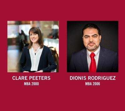 HBS CLUB NY PRESIDENT-ELECT: Clare Peeters (MBA 2000). NEW BOARD MEMBER: Dionis Rodriguez (MBA 2006).