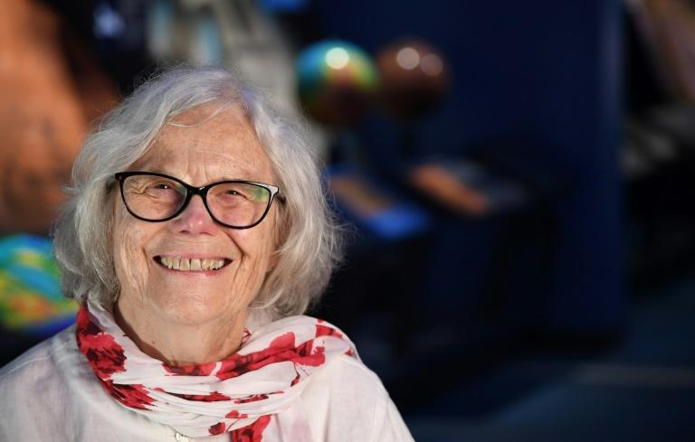 """Now 82, Sue Finley is one of NASA's longest serving women, starting out as one of its """"human computers,"""" whose critical yet long-hidden contributions to the space program, including the Apollo missions to the Moon, are finally being recognized (AFP Photo/Robyn Beck)"""