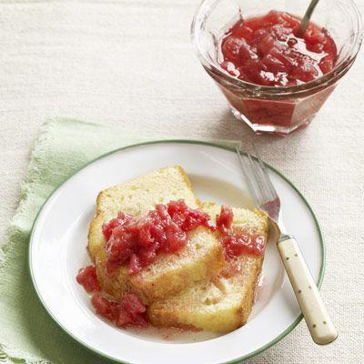 """<p>If you've got lots of extra rhubarb and don't want it to go to waste, make a big portion of this gingery sauce for topping <a href=""""https://www.countryliving.com/food-drinks/recipes/a4151/sour-cream-vanilla-pound-cake-rhubarb-compote-recipe-clv0413/"""" rel=""""nofollow noopener"""" target=""""_blank"""" data-ylk=""""slk:pound cakes"""" class=""""link rapid-noclick-resp"""">pound cakes</a>, pancakes, and more.</p><p><strong><a href=""""https://www.countryliving.com/food-drinks/recipes/a3376/rhubarb-ginger-sauce-recipe-clv0510/"""" rel=""""nofollow noopener"""" target=""""_blank"""" data-ylk=""""slk:Get the recipe"""" class=""""link rapid-noclick-resp"""">Get the recipe</a>.</strong></p><p><strong><a class=""""link rapid-noclick-resp"""" href=""""https://www.amazon.com/Ball-Wide-Mouth-Mason-capacity/dp/B07RZVPM35/?tag=syn-yahoo-20&ascsubtag=%5Bartid%7C10050.g.32771294%5Bsrc%7Cyahoo-us"""" rel=""""nofollow noopener"""" target=""""_blank"""" data-ylk=""""slk:SHOP MASON JARS"""">SHOP MASON JARS</a><br></strong></p>"""