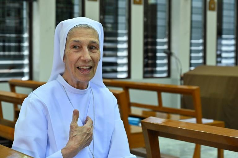 The Pope's cousin, Sister Ana Rosa, has lived in Thailand since 1966 and served as his official translator for the visit (AFP Photo/Romeo GACAD)