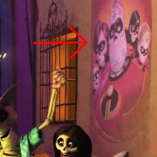"""<p>As Miguel and Hector walk around the <a href=""""https://www.digitalspy.com/movies/a854861/coco-easter-eggs-pixar/"""" rel=""""nofollow noopener"""" target=""""_blank"""" data-ylk=""""slk:Land of the Dead in"""" class=""""link rapid-noclick-resp"""">Land of the Dead in </a><em><a href=""""https://www.digitalspy.com/movies/a854861/coco-easter-eggs-pixar/"""" rel=""""nofollow noopener"""" target=""""_blank"""" data-ylk=""""slk:Coco"""" class=""""link rapid-noclick-resp"""">Coco</a></em>, they pass a poster with a few familiar-looking faces. Does this mean that the Incredible family has come to an end? Or does the Land of the Dead produce its own movies, with skeletal actors?<br></p><p><strong>RELATED: <a href=""""https://www.goodhousekeeping.com/life/parenting/g23406794/best-kids-movies-on-netflix/"""" rel=""""nofollow noopener"""" target=""""_blank"""" data-ylk=""""slk:20 Best Kids' Movies Streaming on Netflix Right Now"""" class=""""link rapid-noclick-resp"""">20 Best Kids' Movies Streaming on Netflix Right Now</a></strong></p>"""
