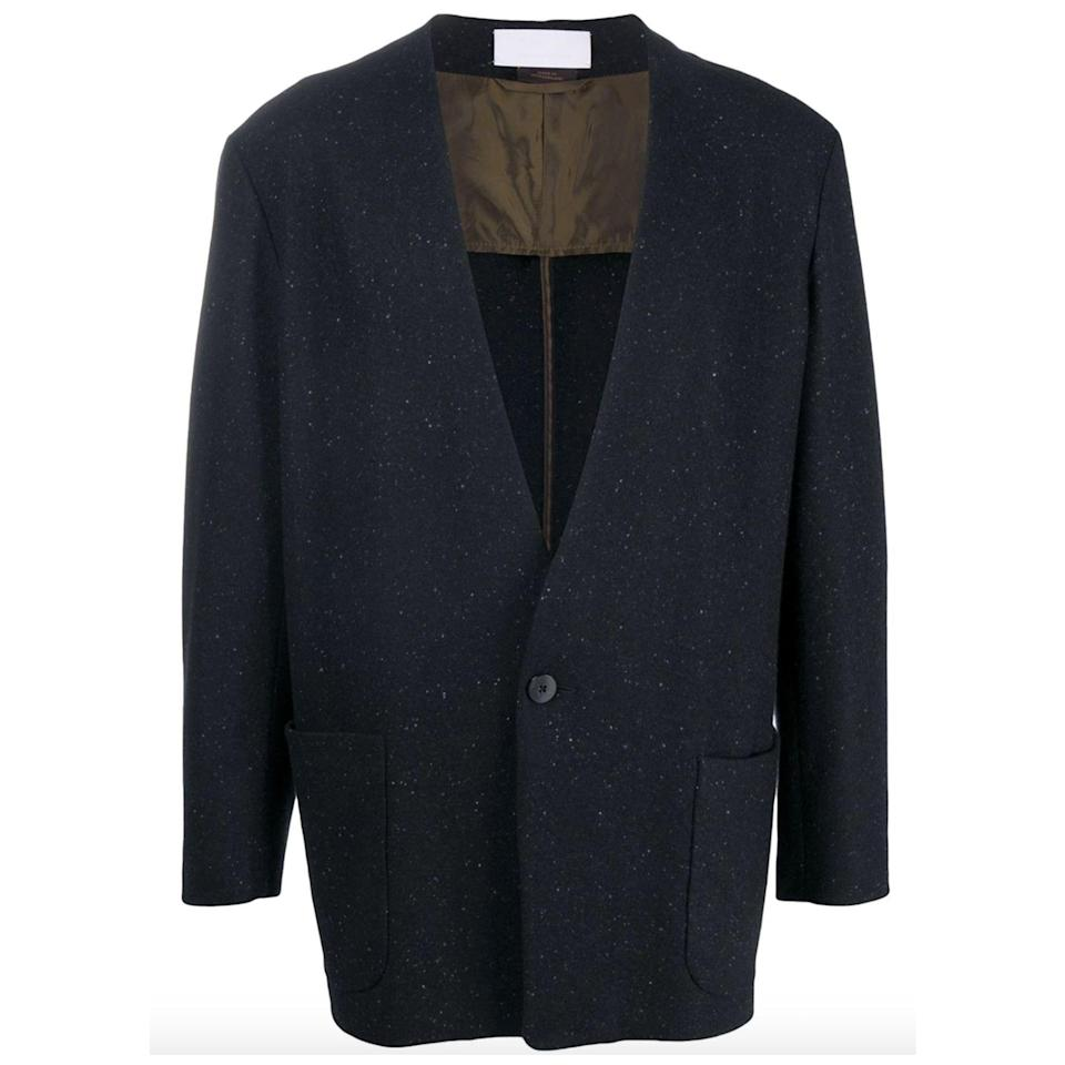 "<p><strong>Fear of God Exclusively for Ermenegildo Zegna</strong></p><p>farfetch.com</p><p><strong>$2365.00</strong></p><p><a href=""https://go.redirectingat.com?id=74968X1596630&url=https%3A%2F%2Fwww.farfetch.com%2Fshopping%2Fmen%2Fermenegildo-zegna-fearofgodzegna-single-breasted-knitted-blazer-item-15504341.aspx&sref=https%3A%2F%2Fwww.esquire.com%2Fstyle%2Fmens-fashion%2Fg34463260%2Fbest-knit-blazers-men%2F"" rel=""nofollow noopener"" target=""_blank"" data-ylk=""slk:Shop Now"" class=""link rapid-noclick-resp"">Shop Now</a></p>"