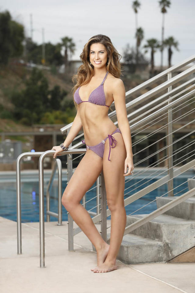 "Katherine Webb competes on ABC's ""Splash."""