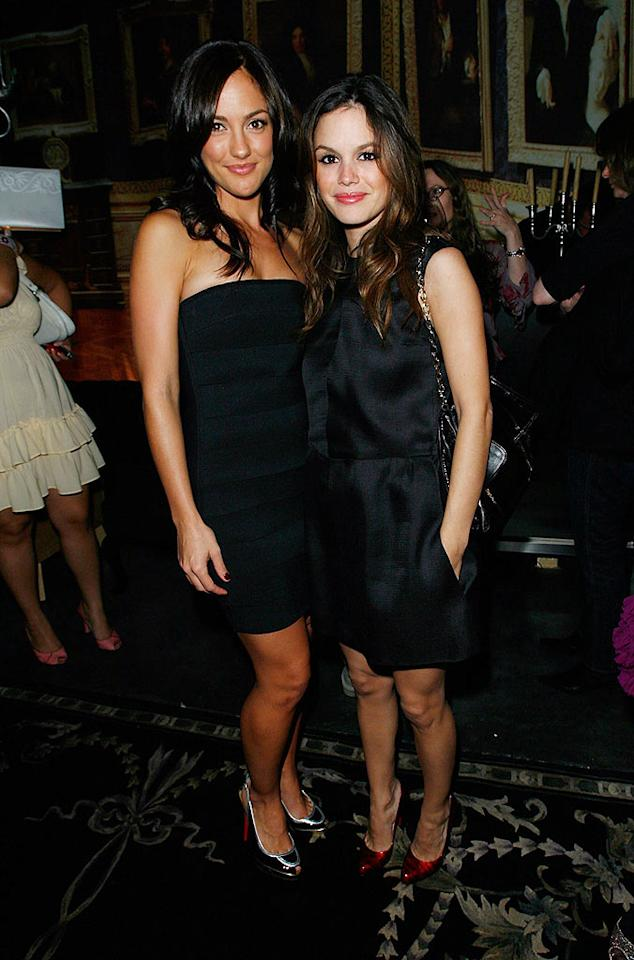 """Minka Kelly and Rachel Bilson prove that you can never go wrong in basic black. Donato Sardella/<a href=""""http://www.wireimage.com"""" target=""""new"""">WireImage.com</a> - October 17, 2007"""