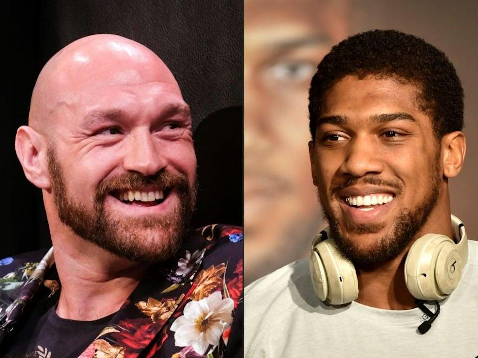 Fury and Joshua have traded words ever since their undisputed title clash collapsed (AFP via Getty Images)