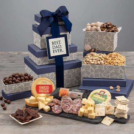 Gourmet Gift Baskets Best Dad Ever Gift Tower