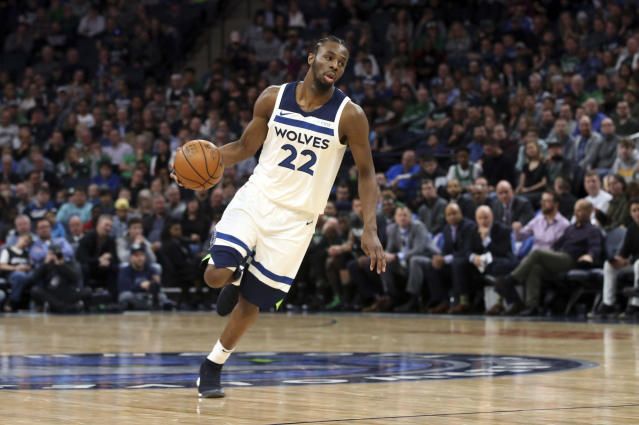 Andrew Wiggins is still working to find his place in the league. (AP)