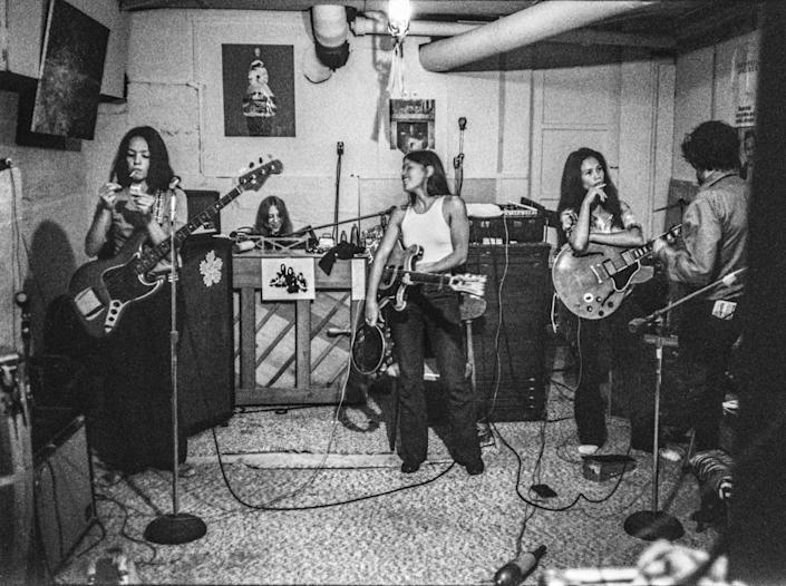 Fanny, the first all-women band to release an LP with a major record label (Warner/Reprise, 1970). (Linda Wolf)
