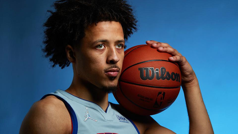 Detroit's Cade Cunningham should get plenty of opportunities for Detroit, making him the best rookie fantasy prospect. (Photo by Michael J. LeBrecht II/NBAE via Getty Images)