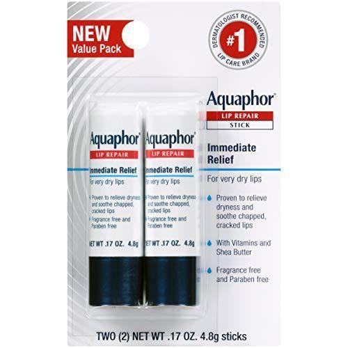 """<p><strong>Aquaphor</strong></p><p>amazon.com</p><p><strong>$7.50</strong></p><p><a href=""""https://www.amazon.com/dp/B07SRRLVQ1?tag=syn-yahoo-20&ascsubtag=%5Bartid%7C10055.g.34238680%5Bsrc%7Cyahoo-us"""" rel=""""nofollow noopener"""" target=""""_blank"""" data-ylk=""""slk:Shop Now"""" class=""""link rapid-noclick-resp"""">Shop Now</a></p><p>Aquaphor, the GH Beauty Lab gold standard salve, has morphed into a handy stick for lips. The GH Beauty Award-winning formula packs shea butter, vitamins B5 and E and sunflower seed wax to <strong>soften with no stickiness</strong>. """"My lips felt soothed instantly and through the day,"""" a tester said.</p>"""