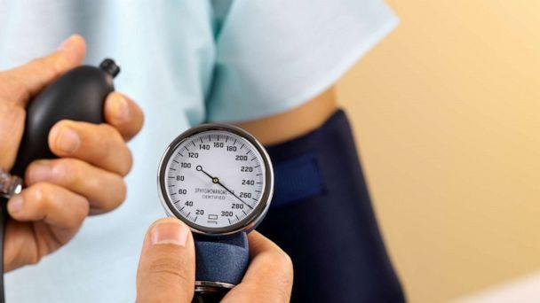 PHOTO: A person's blood pressure appears to be taken in this undated stock photo. (STOCK PHOTO/Getty Images)