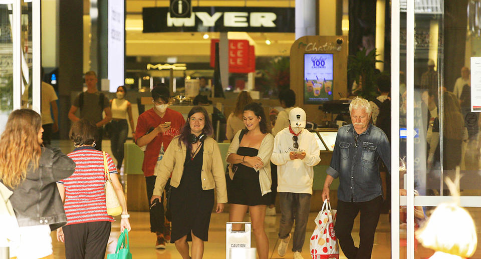 Shoppers at Bondi Junction Westfield