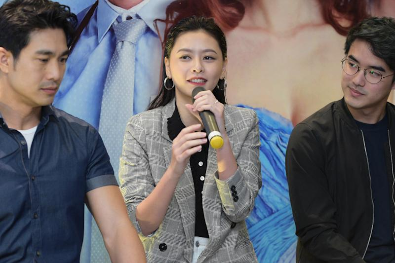 Singapore actress He Ying Ying at the media conference for