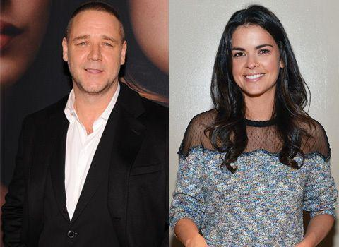 Russell Crowe and Katie Lee. Credit: Getty Images