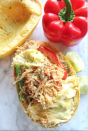"""<p>Another by<a href=""""https://www.onceuponapumpkinrd.com/2017/03/06/201735spaghetti-squash-pad-thai-and-the-apple-of-my-eye/"""" rel=""""nofollow noopener"""" target=""""_blank"""" data-ylk=""""slk:Once Upon a Pumpkin"""" class=""""link rapid-noclick-resp""""> Once Upon a Pumpkin</a>, this summer squash pad thai boat tastes super indulgent but is actually low in carbs and packed with fiber and antioxidants, like beta carotene, to benefit the body. She uses almond butter for the pad thai sauce but you can use peanut if you prefer. </p>"""