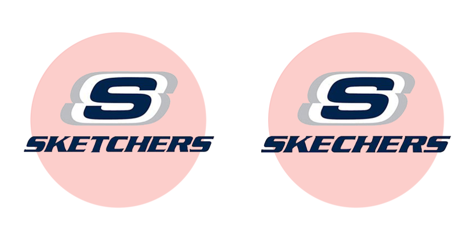 "<p>Less sketchy than most, people have been befuddled to see that there's no ""T"" in Skechers.</p>"