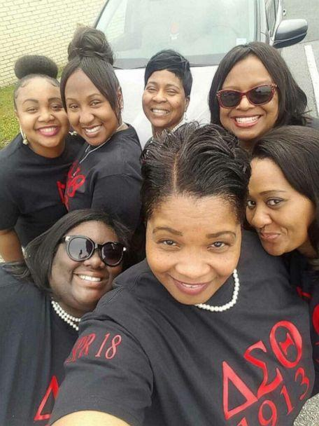 PHOTO: Michelle Lindsey poses with fellow members of Delta Sigma Theta Sorority. (Michelle Lindsey)