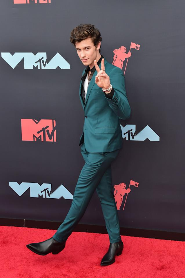 We give Shawn Mendes's party suit two fingers up.
