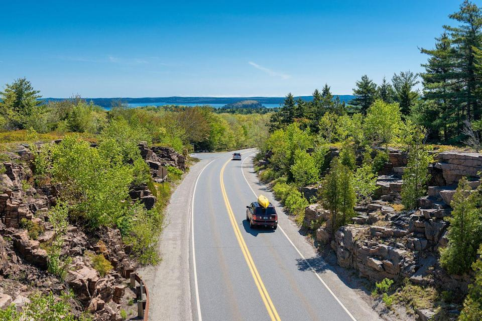 """<p><strong>The Drive:</strong> <a href=""""https://go.redirectingat.com?id=74968X1596630&url=https%3A%2F%2Fwww.tripadvisor.com%2FTourism-g143010-Acadia_National_Park_Mount_Desert_Island_Maine-Vacations.html&sref=https%3A%2F%2Fwww.goodhousekeeping.com%2Flife%2Ftravel%2Fg37101557%2Fmost-scenic-drives-in-america%2F"""" rel=""""nofollow noopener"""" target=""""_blank"""" data-ylk=""""slk:Acadia All-American Road"""" class=""""link rapid-noclick-resp"""">Acadia All-American Road</a></p><p><strong>The Scene:</strong> This three-hour, 40-mile trek offers spectacular coastal views where you'll see beaches, harbors, and lighthouses aplenty. Starting in <a href=""""https://go.redirectingat.com?id=74968X1596630&url=https%3A%2F%2Fwww.tripadvisor.com%2FTourism-g40926-Trenton_Maine-Vacations.html&sref=https%3A%2F%2Fwww.goodhousekeeping.com%2Flife%2Ftravel%2Fg37101557%2Fmost-scenic-drives-in-america%2F"""" rel=""""nofollow noopener"""" target=""""_blank"""" data-ylk=""""slk:Trenton, Maine"""" class=""""link rapid-noclick-resp"""">Trenton, Maine</a>, you'll drive down to Hulls Cove Visitor Center where you'll then start <a href=""""https://go.redirectingat.com?id=74968X1596630&url=https%3A%2F%2Fwww.tripadvisor.com%2FAttraction_Review-g143010-d208151-Reviews-Park_Loop_Road-Acadia_National_Park_Mount_Desert_Island_Maine.html&sref=https%3A%2F%2Fwww.goodhousekeeping.com%2Flife%2Ftravel%2Fg37101557%2Fmost-scenic-drives-in-america%2F"""" rel=""""nofollow noopener"""" target=""""_blank"""" data-ylk=""""slk:the loop around Acadia National Park"""" class=""""link rapid-noclick-resp"""">the loop around Acadia National Park</a>.</p><p><strong>The Pit-Stop:</strong> Bring your hiking boots, so you can venture to the top of <a href=""""https://go.redirectingat.com?id=74968X1596630&url=https%3A%2F%2Fwww.tripadvisor.com%2FAttraction_Review-g143010-d108269-Reviews-Cadillac_Mountain-Acadia_National_Park_Mount_Desert_Island_Maine.html&sref=https%3A%2F%2Fwww.goodhousekeeping.com%2Flife%2Ftravel%2Fg37101557%2Fmost-scenic-drives-in-america%2F"""" rel=""""nofollow noopener"""" target=""""_blank"""" data-ylk="""""""
