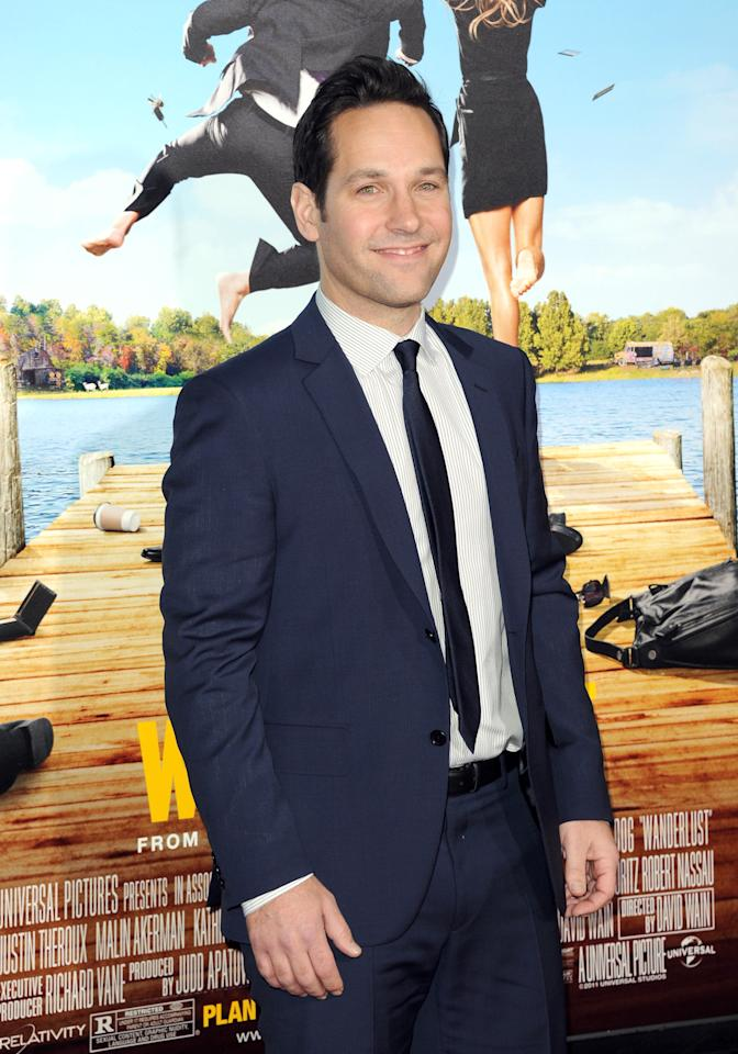 "WESTWOOD, CA - FEBRUARY 16:  Actor Paul Rudd arrives at the premiere of Universal Pictures' ""Wanderlust"" held at Mann Village Theatre on February 16, 2012 in Westwood, California.  (Photo by Jason Merritt/Getty Images)"