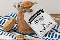 """<p>If he's king of the grill, make him this barbecue rub he can use year-round. This blogger also offers the cutest tag to download for free.</p><p><strong>Get the tutorial at <a href=""""https://www.kristendukephotography.com/bbq-rub-recipe-and-free-printables/"""" rel=""""nofollow noopener"""" target=""""_blank"""" data-ylk=""""slk:Capturing Joy"""" class=""""link rapid-noclick-resp"""">Capturing Joy</a>.</strong></p><p><strong><a class=""""link rapid-noclick-resp"""" href=""""https://www.amazon.com/Food-Storage-containers-canister-set/dp/B079G9T39Q?tag=syn-yahoo-20&ascsubtag=%5Bartid%7C10050.g.1171%5Bsrc%7Cyahoo-us"""" rel=""""nofollow noopener"""" target=""""_blank"""" data-ylk=""""slk:SHOP FOOD CANISTERS"""">SHOP FOOD CANISTERS</a></strong></p>"""