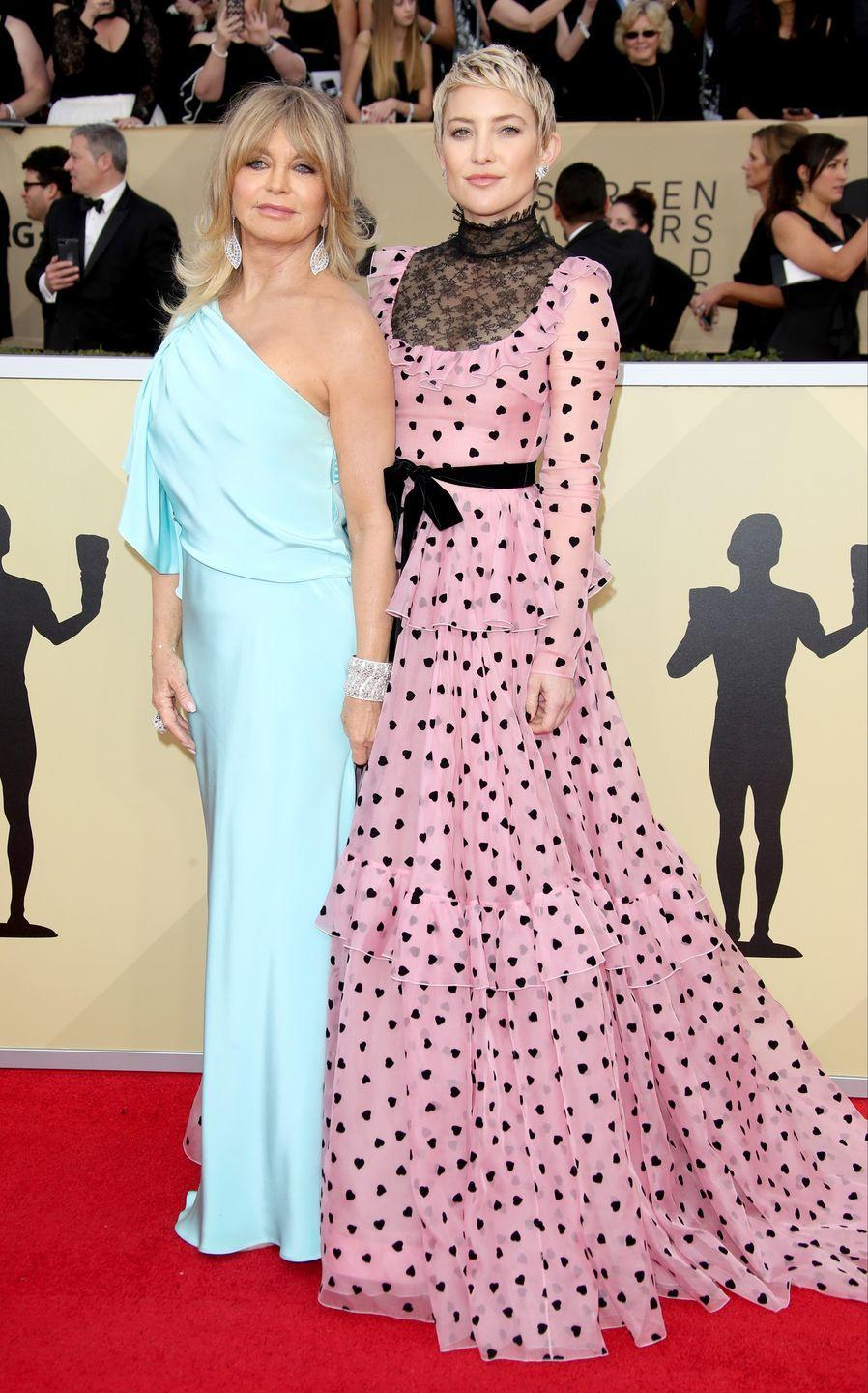 <p>Yep! Superstar Goldie Hawn is the mother of former <em>WH </em>cover star Kate Hudson. Together they make quite the photogenic pair. </p>