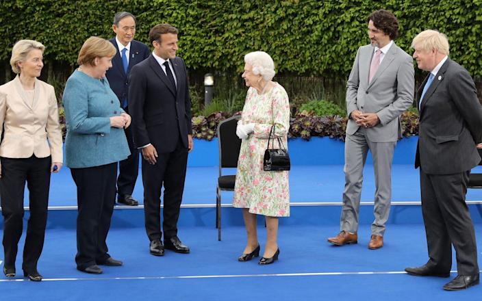 The Queen meets with G7 leaders in Cornwall on June 11 2021 - Jack Hill/AFP