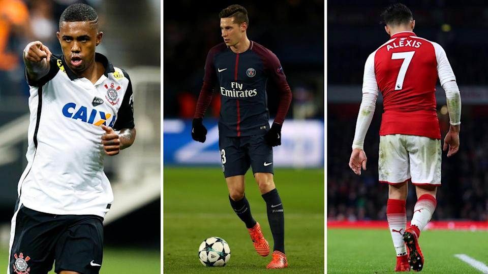 Malcom is a United target, while Arsenal are looking to replace Alexis Sanchez with Draxler – it seems