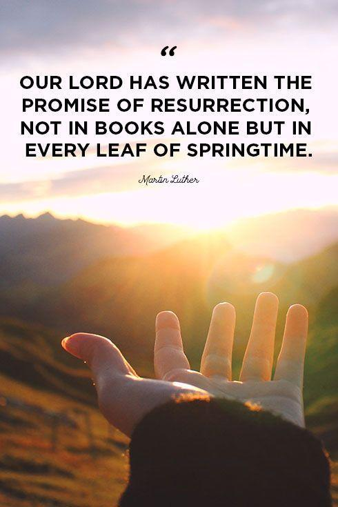 """<p>""""Our lord has written the promise of resurrection, not in books alone but in every leaf of springtime.""""</p>"""