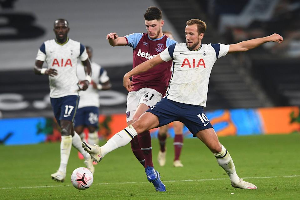 Harry Kane was everywhere for Tottenham in the draw with West Ham (AP)