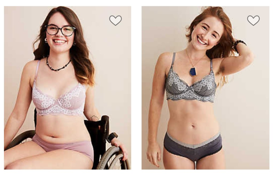 A new Arie campaign showcases models<span> living with various disabilities, conditions, and illnesses.</span> (Photos: Aerie)