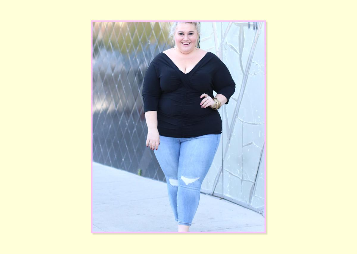 """<p><strong>Sara Sapora, <a rel=""""nofollow"""" href=""""http://www.sarahpluslife.com"""">Sara Plus Life</a></strong><br />The Torrid Premium Stretch Jeggings have the perfect proportion for my body. Every piece of the jean sits where it should be sitting on my body! I am short, petite, and curvy, which always makes it a challenge to find jeans that work for me. The length and rise are always too long, and the leg and ankle opening is never narrow enough for me. These jeggings are very thick and don't feel, or wear, like traditional jeggings do. The rise is perfect, they don't gap, and the extra-short length (they come in extra-short through tall!) means I get a perfectly cropped style that works for dressy or casual looks.<br /><br />Curvy Jeggings Light Wash, $65, <a rel=""""nofollow"""" href=""""http://www.torrid.com/product/torrid-curvy-jeggings---light-wash/10801751.html?cgid=jeans-jegging#start=20"""">Torrid</a> </p>"""