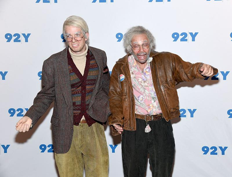 """John Mulaney and Nick Kroll attend 92Y Presents: Nick Kroll, John Mulaney & John Oliver, """"Oh Hello On Broadway"""" at 92nd Street Y on June 13, 2017 in New York City. (Photo by Jamie McCarthy/Getty Images)"""
