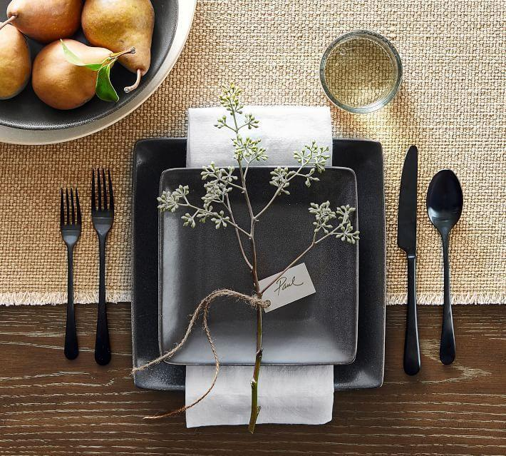 "<p>potterybarn.com</p><p><strong>$136.00</strong></p><p><a href=""https://go.redirectingat.com?id=74968X1596630&url=https%3A%2F%2Fwww.potterybarn.com%2Fproducts%2Fmason-square-dinnerware-set%2F&sref=https%3A%2F%2Fwww.housebeautiful.com%2Fentertaining%2Fholidays-celebrations%2Fg22778748%2Fthanksgiving-dinnerware%2F"" rel=""nofollow noopener"" target=""_blank"" data-ylk=""slk:BUY NOW"" class=""link rapid-noclick-resp"">BUY NOW</a></p><p>A deep charcoal stoneware set—in a non-traditional square shape, no less—make way for other colorful decorations.</p>"