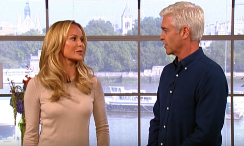 Amanda Holden has spoken publicly about her issues with Phillip Schofield (ITV).