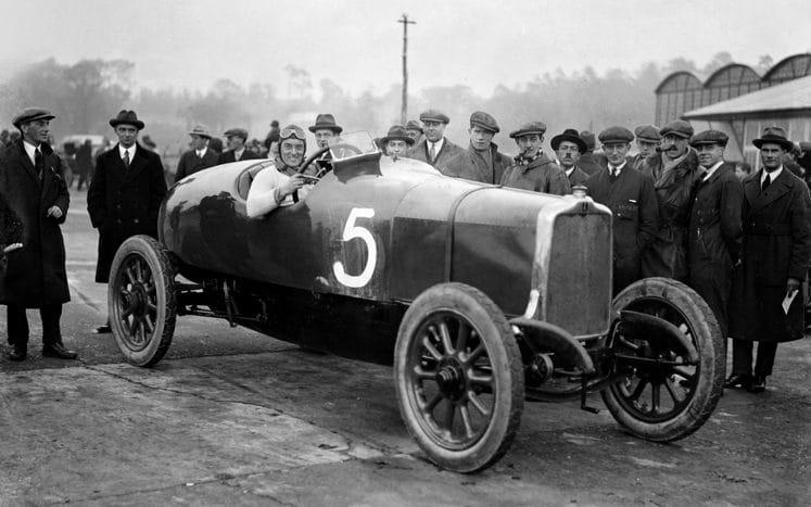 Malcolm Campbell in the 1913 works Talbot 15HP at Brooklands